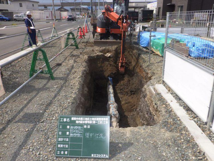都南中央第三地区土地区画整理事業地内排水管布設(第一工区)工事_画像01